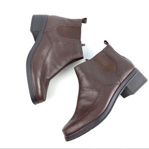 Easy Spirit Clydet Brown square toe Booties 7W